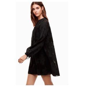 ⭐️Aritzia Wilfred Gascon black dress with silk❤️New listing!⭐️